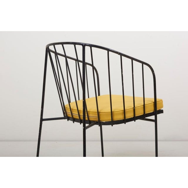 Set of Four Iron Rod Outdoor Chairs by George Nelson for Arbuck, 1950s For Sale - Image 9 of 13