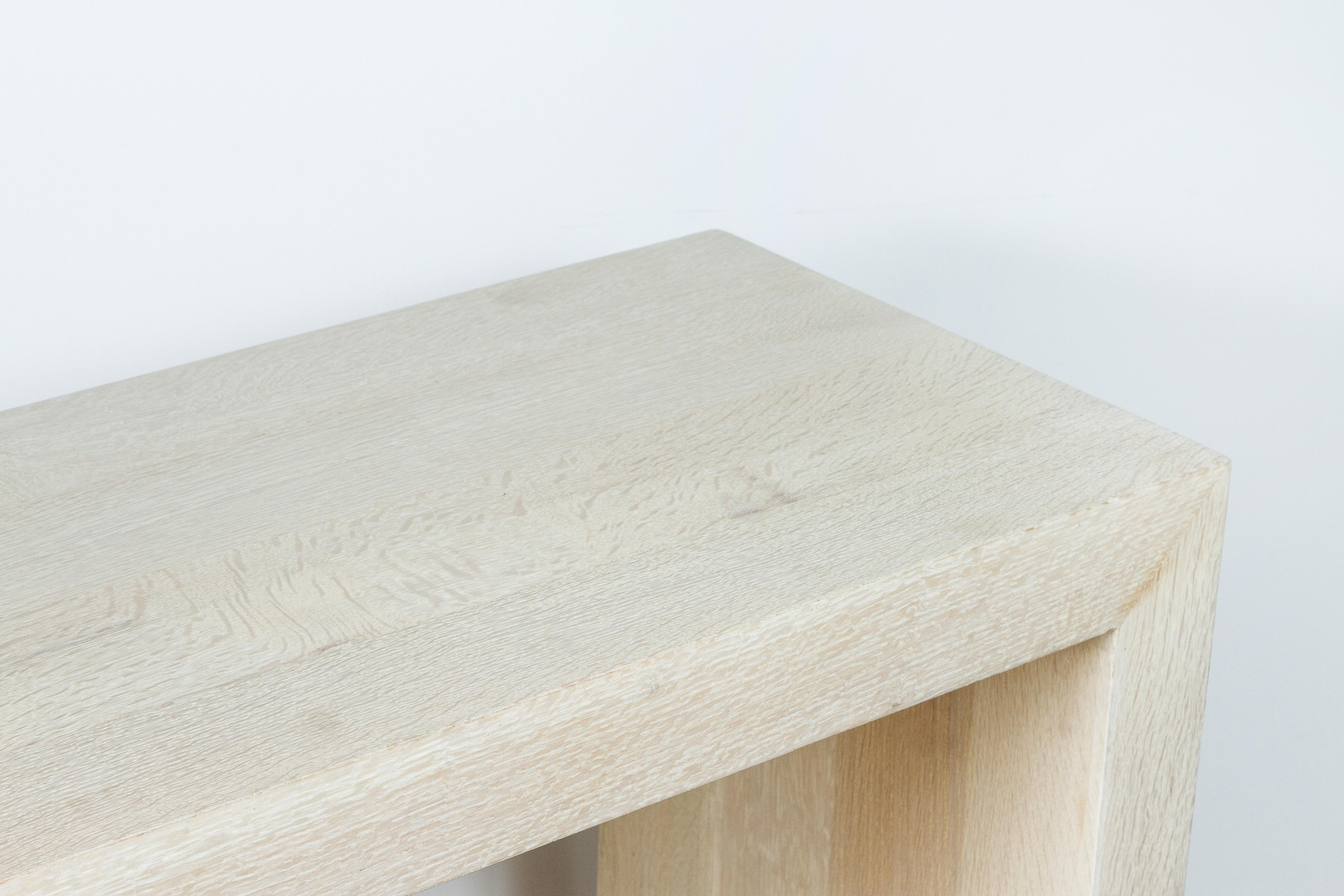 Paul Marra Marble And Bleached Oak Console   Image 8 Of 11