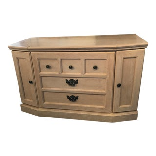 White Wash TV Stand Cabinet For Sale