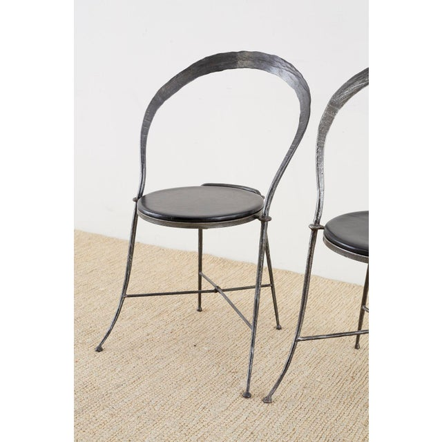 Pair of Giovanni Banci Midcentury Sculptural Iron Chairs For Sale - Image 11 of 13
