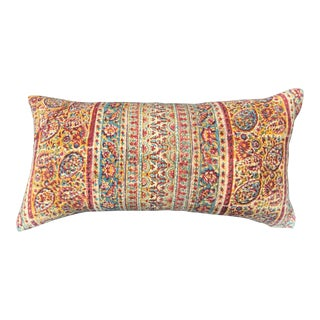 1970's Hand-Blocked Indian Paisley Pillow