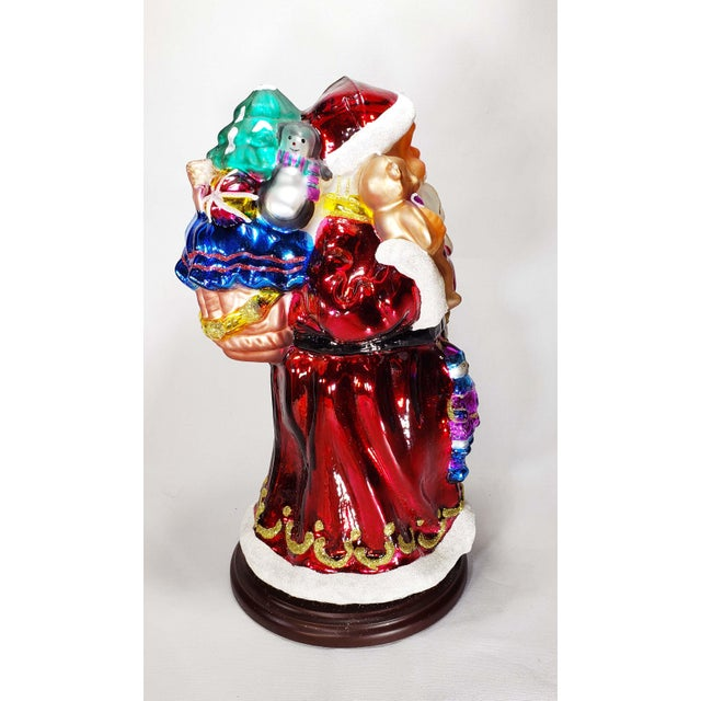 """Mid 20th Century Mid 20th Century Authentic Thomas Pacconi Classics 14"""" Glass Blown Handpainted Santa Claus For Sale - Image 5 of 7"""