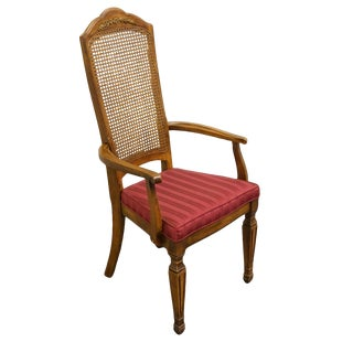 Late 20th Century Vintage Stanley Furniture Italian Provincial Style Dining Chair For Sale