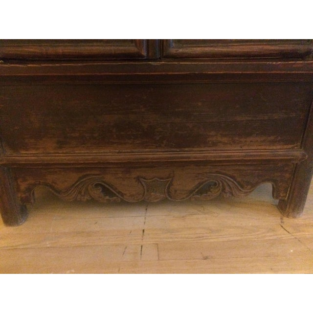 Late 19th Century Antique Wooden Chinese Armoire For Sale - Image 5 of 5