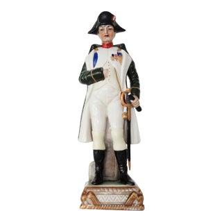 Vintage A J Uffrecht & Co Hand Painted Napoleon Porcelain Figurine For Sale