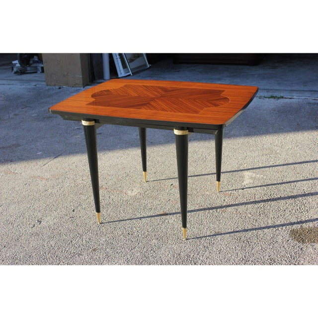 1940s Art Deco Exotic Macassar Ebony Game Table For Sale - Image 12 of 13
