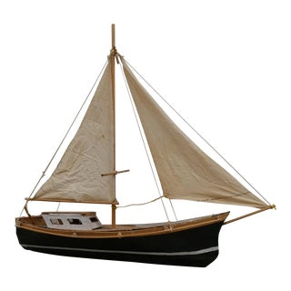 Rustic Handcrafted Sailboat Model