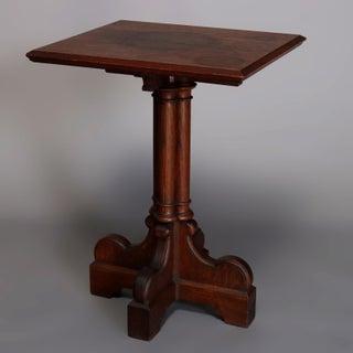 Antique English Gothic Quarter Sawn Oak Cluster Column Side Table Preview