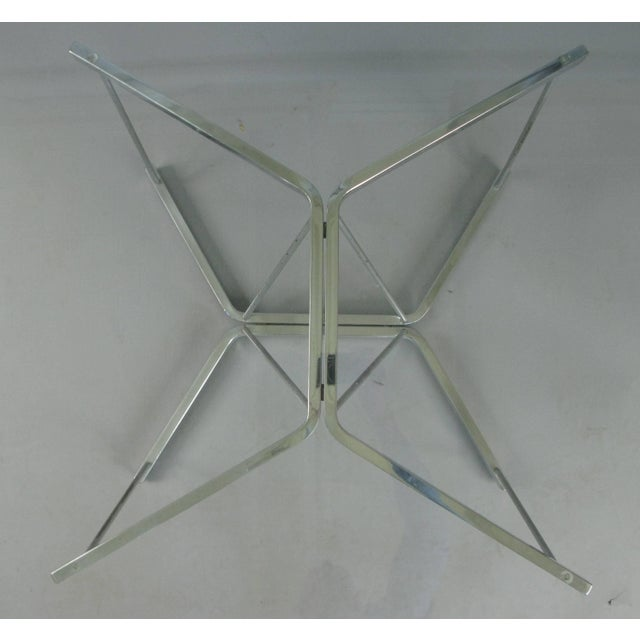 Mid-Century Modern Vintage 1960s George Nelson for Herman Miller Chrome and Glass Catenary Table For Sale - Image 3 of 9