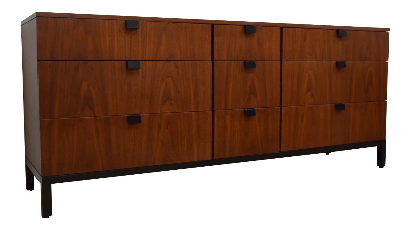 Beau Kipp Stewart For Directional Walnut Long Dresser