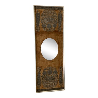 Early 20th Century Antique Mirror on Fabric For Sale