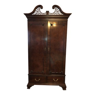 Vintage Solid Wood Wardrobe For Sale