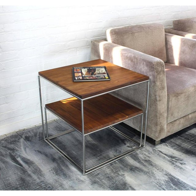 Metal Chrome Cube Nesting End Side Table For Sale - Image 7 of 9