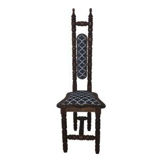19th Century Jacobean High Back Mexican Prayer Chair For Sale