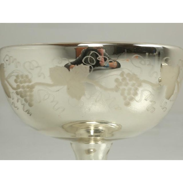 1940s Vintage Mercury Glass Compotes - Set of 2 For Sale - Image 5 of 11