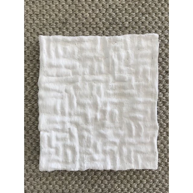 """""""Gridlines"""" Minimalist Plaster Painting For Sale In San Francisco - Image 6 of 6"""