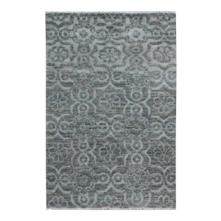 "Kafkaz Peshawar Rosalia Gray/Gray Wool & Viscouse Rug - 3'11"" X 5'9"""
