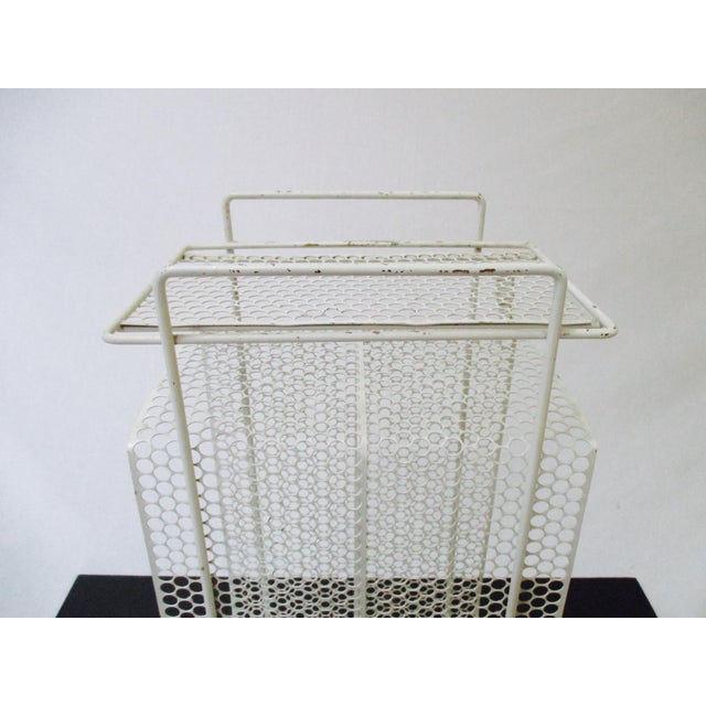 White Metal Telephone Stand / Magazine Holder - Image 6 of 9