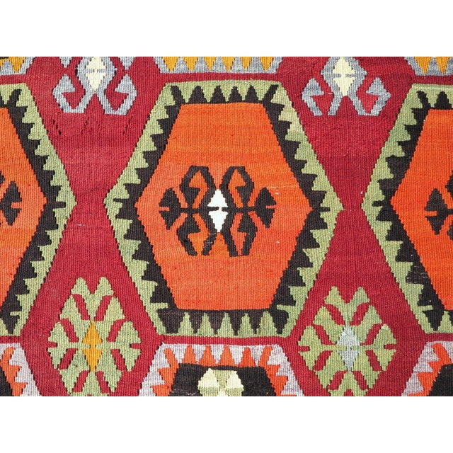 Vintage Turkish Kilim Rug - 6′6″ × 12′5″ - Image 8 of 10