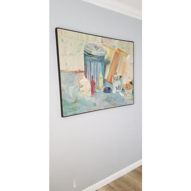 For your consideration we are presenting for sale is a fantastic mid-century expressionist abstract Oil on canvas painting...