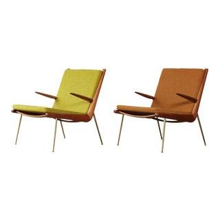 1960s Vintage Peter Hvidt & Orla Mølgaard-Nielsen Boomerang Chairs - a Pair For Sale