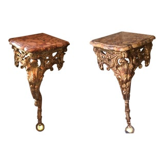 Antique Louis XV Consoles De Coin Corner Consoles - A Pair For Sale