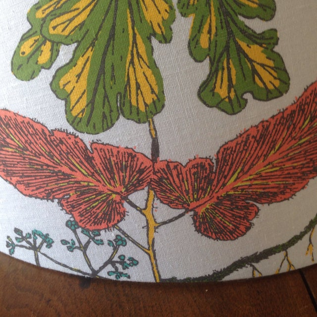 Green Vintage Botanical Print Lamp Shade For Sale - Image 8 of 11