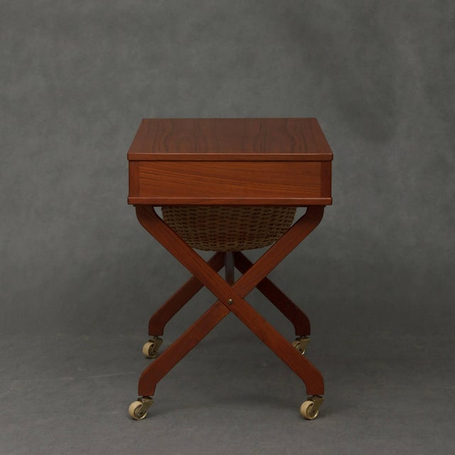 Sewing table, an obligatory piece of furniture in every haushold before the WW2 and also in the 50s and 60s. Danish...