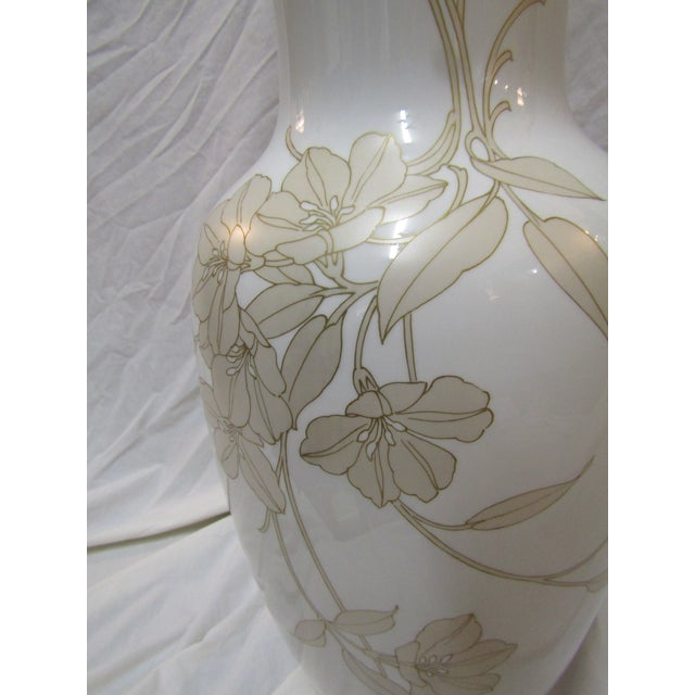 Contemporary Kaiser Signed Floral Design Vase For Sale - Image 3 of 6