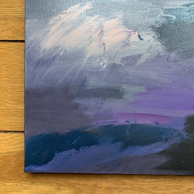Gorgeous abstract original acrylic painting done by local Cincinnati artist, Kim Rowland. Painterly brush strokes and...
