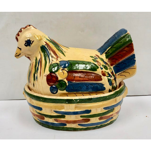 Mexican Tlaquepaque Folk Art Nesting Chicken For Sale - Image 12 of 12