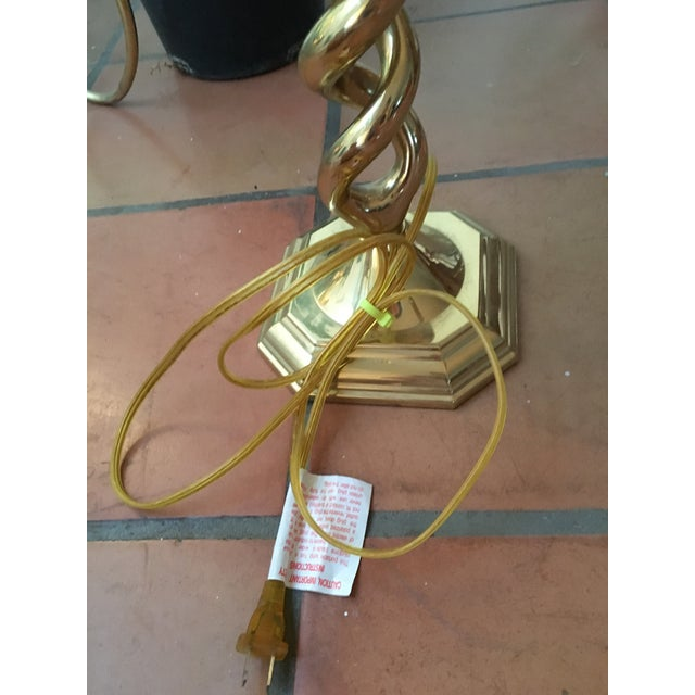 Twisted Brass Table Lamp - Image 5 of 6