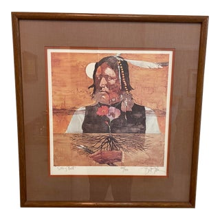 Sitting Bull Lithograph by Bart Forbes For Sale