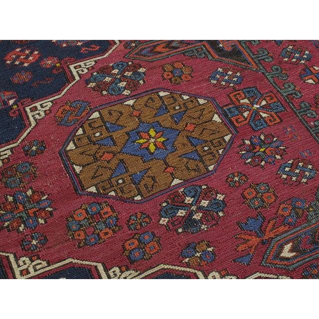Blue Sumak Carpet For Sale - Image 8 of 10