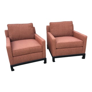 Mid-Century Modern Ming Style Club Chairs - a Pair