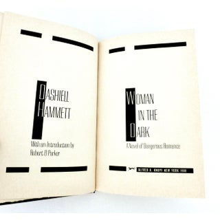 Woman in the Dark Book by Dashiell Hammett Preview