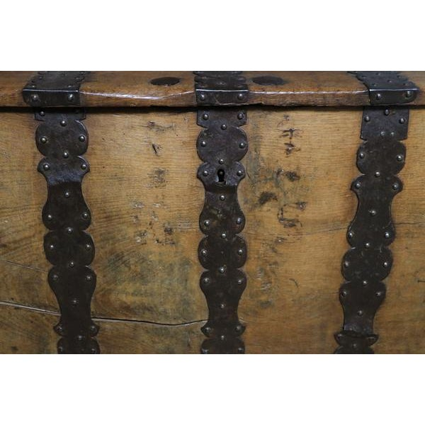 18th Century Oak & Iron Danish Coffer For Sale - Image 10 of 10