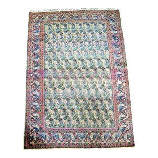 Antique Classic Persian Paisley Pattern Kerman/Kirman Rug- 4′2″ × 7′5″ For Sale