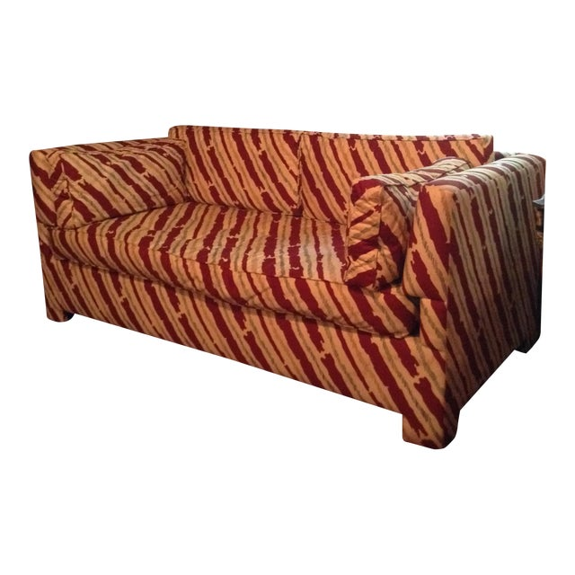 Schumacher Custom Stripe Sofa - Image 1 of 6