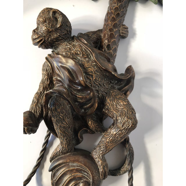 Single Monkey Figure Wall Candle Sconce For Sale - Image 9 of 10