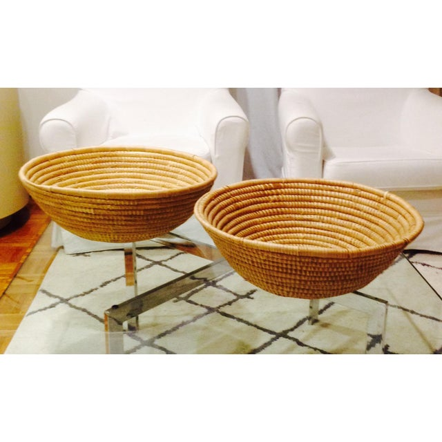 Vintage Handwoven Baskets- a Pair - Image 2 of 4
