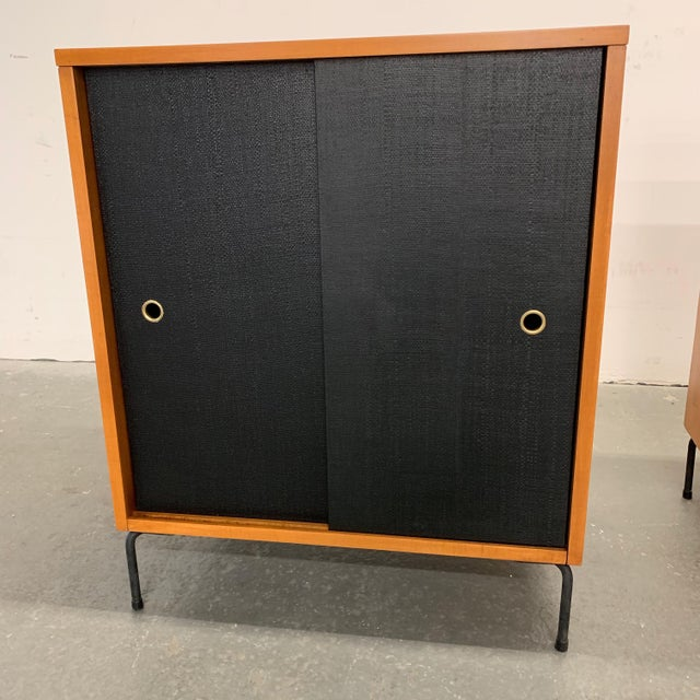 Mid 20th Century Paul McCobb Planner Group Maple Sliding Door Cabinets For Sale - Image 5 of 10