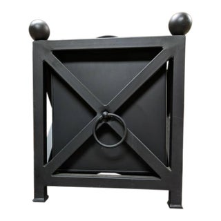 Chippendale Style Black Patio Planter