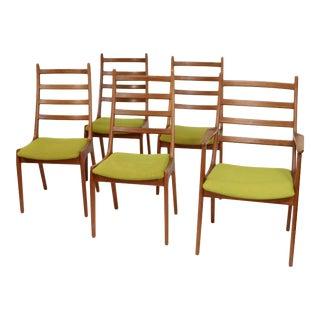 Set of 5 Danish Teak Chairs by Kai Kristiansen