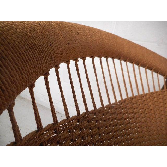 """Brown Danish Modern """"Ringstol"""" Hoop Chair by Illum Wikkelsø For Sale - Image 8 of 12"""