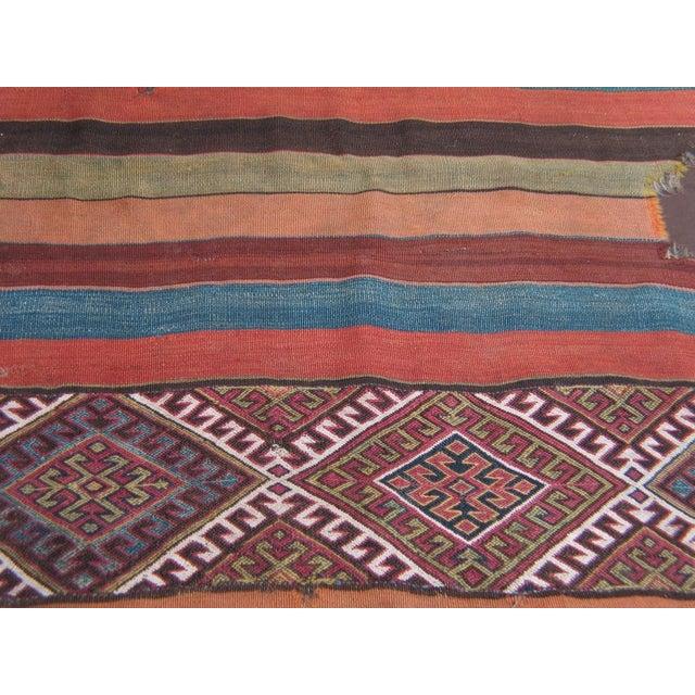 Mid 19th Century Antique Anatolian Kilim, Grain Sack For Sale - Image 5 of 8