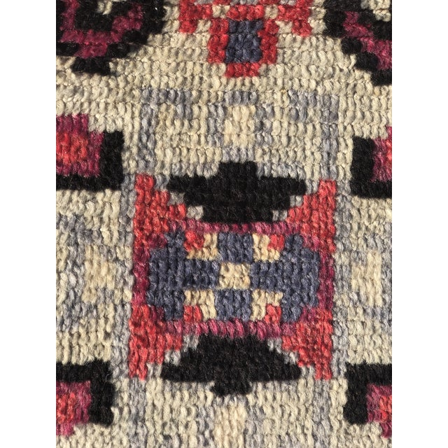 Art Deco Vintage Turkish Anatolian Small Area Rug - 2′4″ × 4′ For Sale - Image 3 of 11