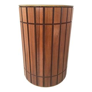 Mid-Century Walnut Wastebasket
