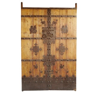 Old Mongolian Wood Door