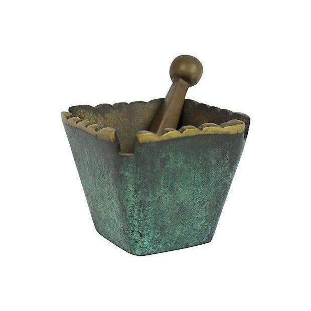 Mid Century Modern Brass Mortar & Pestle - Image 2 of 5